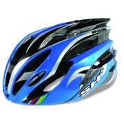 SH+ NATT, Férfi biciklis védősisak, Blue/silver