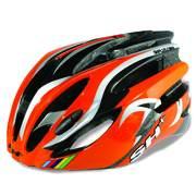 SH+ NATT, Férfi biciklis védősisak, Orange/silver