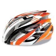 SH+ ZEUSS, Férfi biciklis védősisak, Orange/white