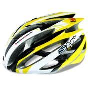 SH+ ZEUSS, Férfi biciklis védősisak, Yellow/white